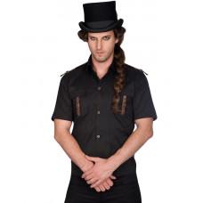 Aderlass Steampunk Lock Shirt Denim (Black Brown)