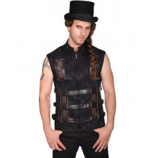 Aderlass Shelter Steampunk Vest Brocade (Black Brown)