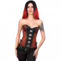 Aderlass Steampunk Belt Corset Brocade (red)