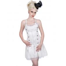 Aderlass String Mini Dress Brocade (White)
