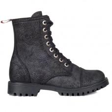 Aderlass 8-Eye Boots Leather Brocade (black)