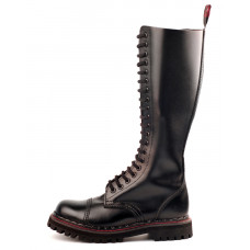 Aderlass 20-Eye Steel Boots Leather (black)