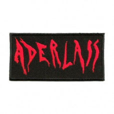 Patch ADERLASS Aufnäher 10x5cm (black red)