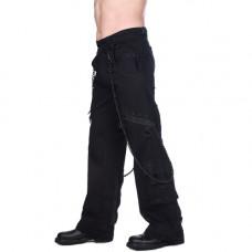 Black Pistol Chain Pants Denim (black)