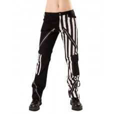 Black Pistol Freak Pants Stripe (Black-and-white)