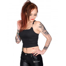 Black Pistol Punk Top Denim (black)