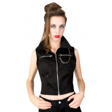 Black Pistol Punk Vest Denim (black)