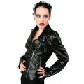 Black Pistol Biker Lady Jacket Sky (black)