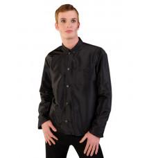 mode wichtig Classic Shirt 2-tone Satin (black)