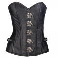 Mode Wichtig Steampunk Corset Leather (black)