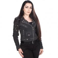 Mode Wichtig Ladys Rockstar Jacket Jeans (black)