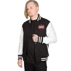 Mode Wichtig College Jacket 666 Pentagramm (black)