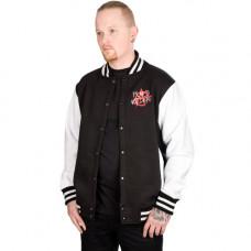 Mode Wichtig College Jacket Punks Not Dead (White)