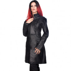 Mode Wichtig Ladys Military Coat Nappa Leather (black)