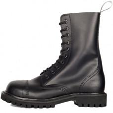 Mode Wichtig 10-Eye Steel Boots Leather (black)