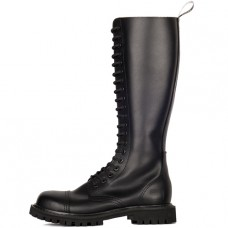 Mode Wichtig 20-Eye Steel Boots Zip Leather (black)