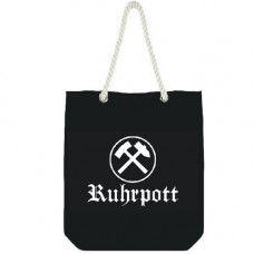 Mode Wichtig City Bag Canvas RUHRPOTT 35x40x10cm (Black-and-white)