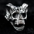 Mode Wichtig Ring Horned Skull (Titanum)