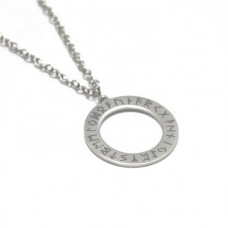 Mode Wichtig Necklace + Pendant Rune (Stainless Steel)