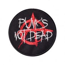 Patch Punks Not Dead Aufnäher 10cm (black)