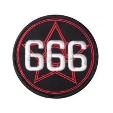 Patch 666 Pentagram Aufnäher 9cm (black)