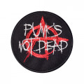 Mode Wichtig Patch Punks Not Dead Aufnäher 3cm (black)