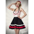 BELSIRA Neckholder-Kleid (black / red / white)