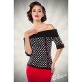 BELSIRA Jersey-Top (black White Red)
