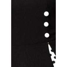 BELSIRA Vintage-Kleid mit Bolero (black-and-white)