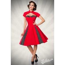 BELSIRA Vintage-Kleid mit Bolero (red / black / white)