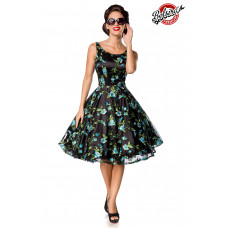 BELSIRA Belsira Premium Vintage Blumenkleid (black / blue)