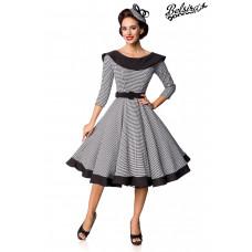BELSIRA Premium Vintage Swing-Kleid (black-and-white)