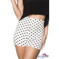 HIPSTYLERS High Waist Shorts (White black)