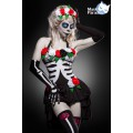 MASK PARADISE Day of the Dead Kostüm: Mexican Skeleton (black-and-white)