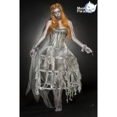 MASK PARADISE Zombie Bride (weiß/grau)