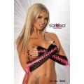 SARESIA Armstulpen mit Schnürung (schwarz / pink)